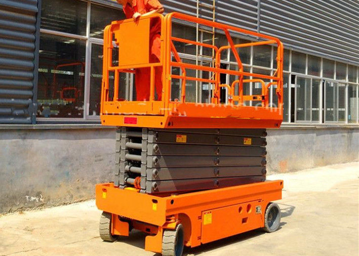 Commercial Stationary Scissor Lift Platforms Single Man Movable Lightweight